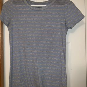 Target purple and grey stripped tee